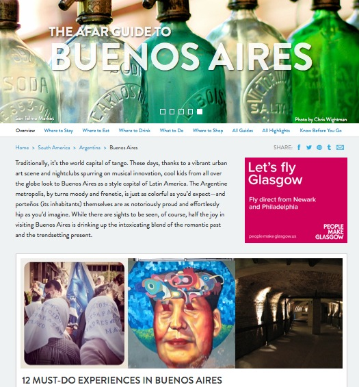 AFAR guide to Buenos Aires