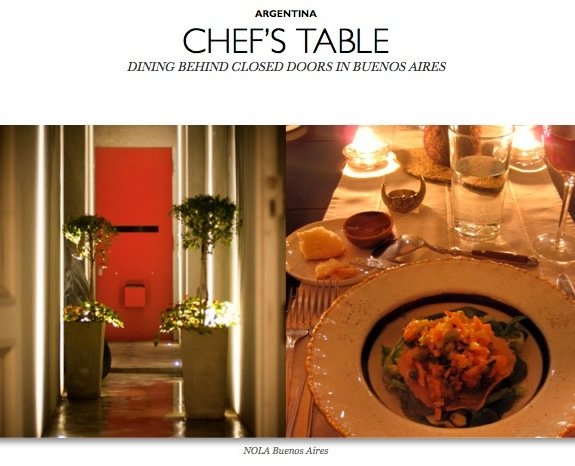 Chef's Table Buenos Aires