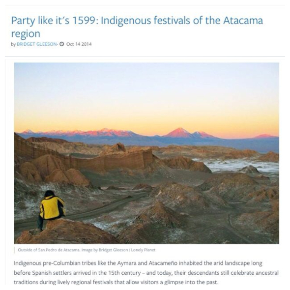 Indigenous festivals of the Atacama