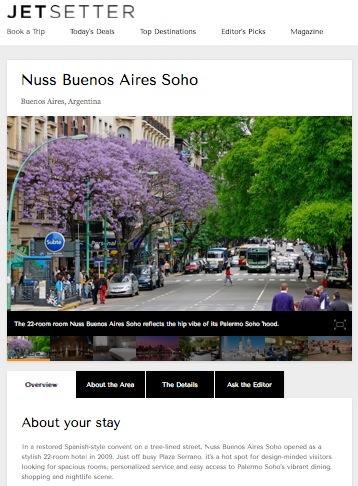 Jetsetter - Nuss Buenos Aires Soho