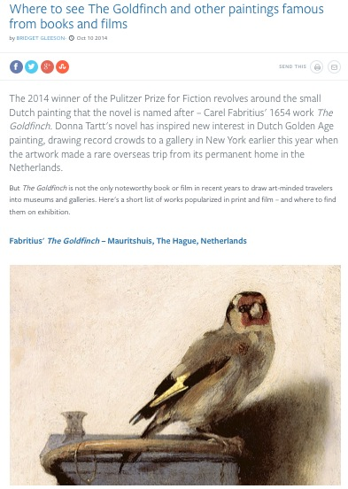Where to see the Goldfinch
