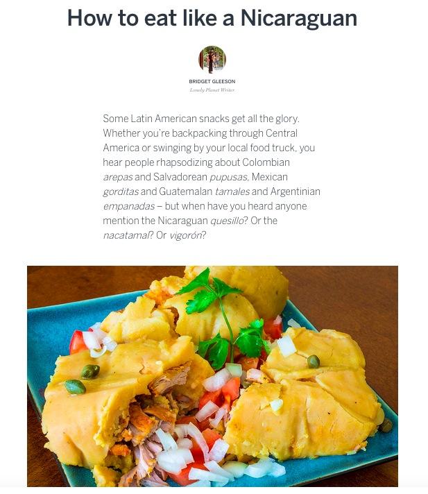 How to eat like a Nicaraguan