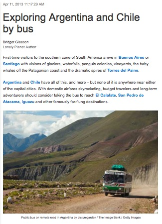Exploring Argentina &amp; Chile by Bus