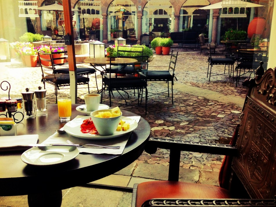 Breakfast at Palacio del Inka