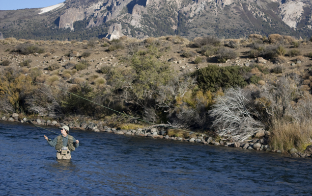 Fly-fishing on Traful River, Estancia Arroyo Verde